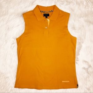 Burberry Golf Orange Sleeveless Tank Polo